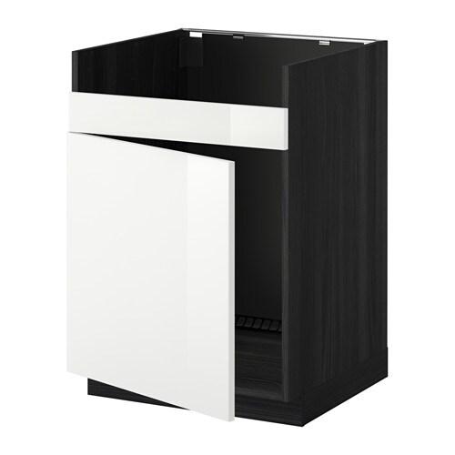 metod l ment pour vier domsj 1 bac effet bois noir ringhult brillant blanc ikea. Black Bedroom Furniture Sets. Home Design Ideas