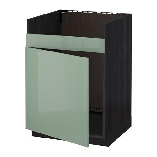 metod l ment pour vier domsj 1 bac effet bois noir kallarp brillant vert clair ikea. Black Bedroom Furniture Sets. Home Design Ideas