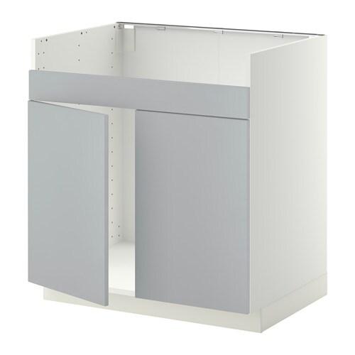 metod l ment pour vier domsj 2 bacs blanc veddinge gris ikea. Black Bedroom Furniture Sets. Home Design Ideas