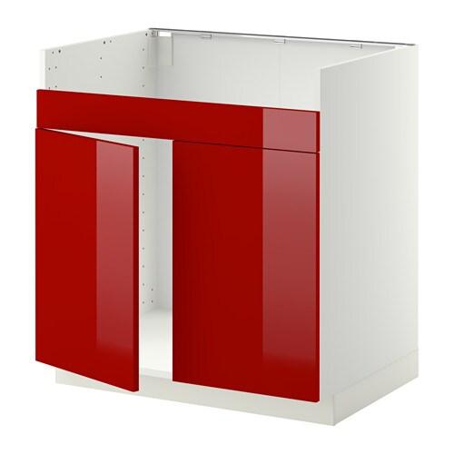 metod l ment pour vier domsj 2 bacs blanc ringhult brillant rouge ikea. Black Bedroom Furniture Sets. Home Design Ideas