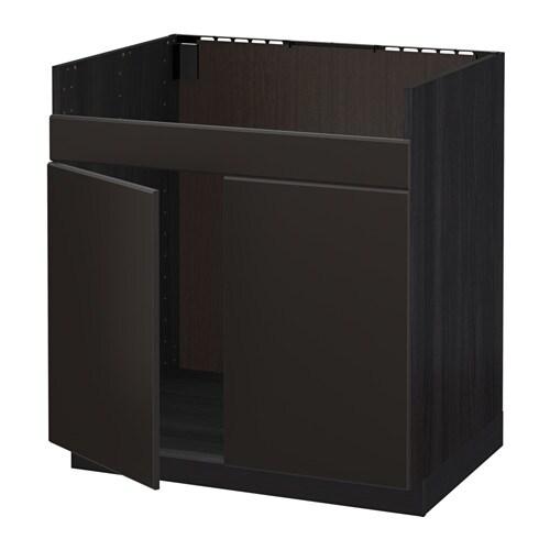metod l ment pour vier domsj 2 bacs effet bois noir kungsbacka anthracite ikea. Black Bedroom Furniture Sets. Home Design Ideas
