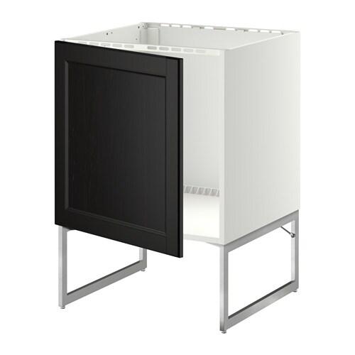 metod lt bas vier blanc laxarby brun noir ikea. Black Bedroom Furniture Sets. Home Design Ideas