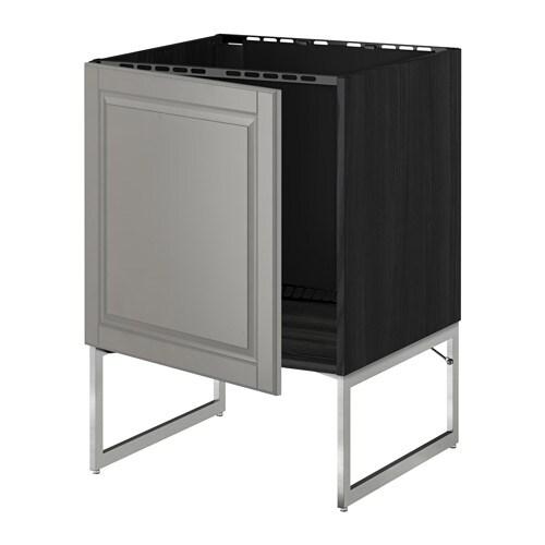 metod lt bas vier effet bois noir bodbyn gris ikea. Black Bedroom Furniture Sets. Home Design Ideas