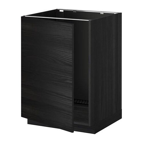 metod lt bas vier effet bois noir tingsryd effet bois. Black Bedroom Furniture Sets. Home Design Ideas