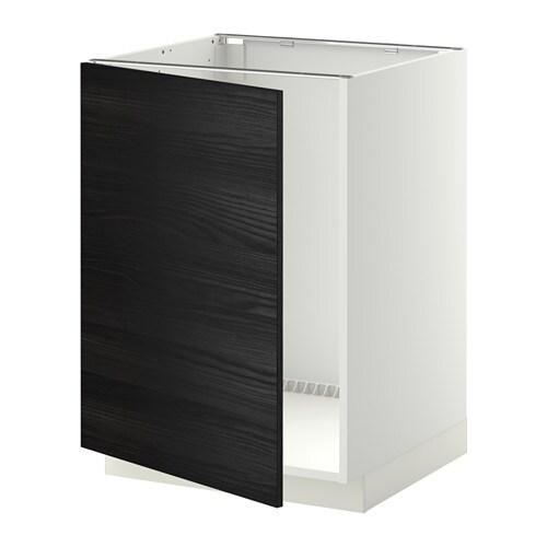 metod lt bas vier blanc tingsryd effet bois noir ikea. Black Bedroom Furniture Sets. Home Design Ideas