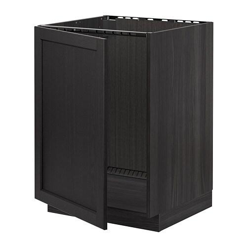 metod lt bas vier effet bois noir lerh teint noir ikea. Black Bedroom Furniture Sets. Home Design Ideas
