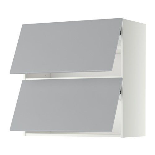 Metod Lt Mur Horiz 2ptes Blanc Veddinge Gris 80x80 Cm Ikea