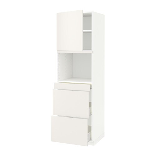 metod f rvara armoire micro ondes av porte 3 tir blanc veddinge blanc 60x60x200 cm ikea. Black Bedroom Furniture Sets. Home Design Ideas