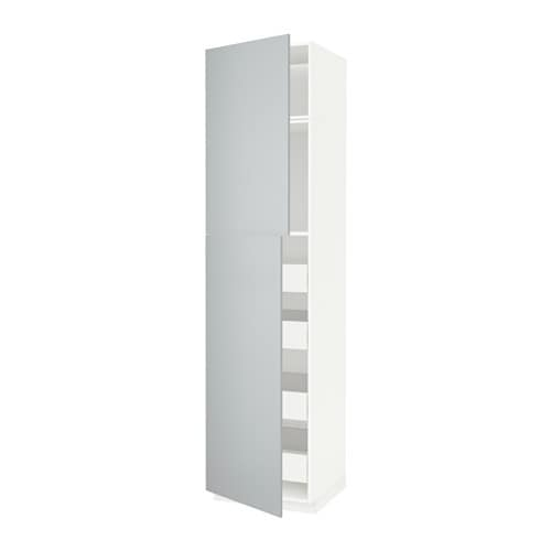 Metod f rvara armoire 2 portes 4 tiroirs blanc - Protection tiroir cuisine ...