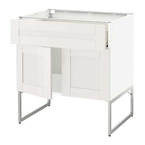 metod f rvara l bas tablette tiroir 2portes blanc s vedal blanc ikea. Black Bedroom Furniture Sets. Home Design Ideas
