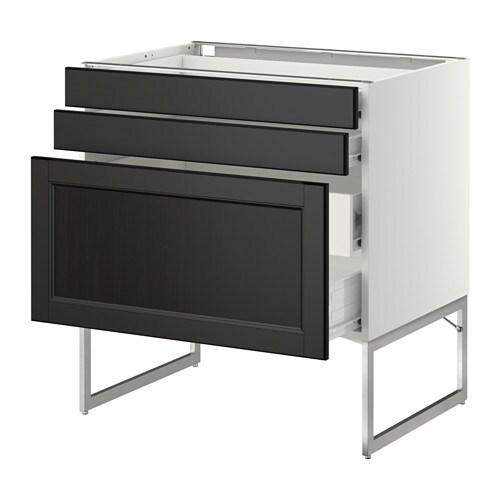 3fcs2tir bs2tir moy  blanc, Laxarby brun noir, 80x60x60 cm  IKEA