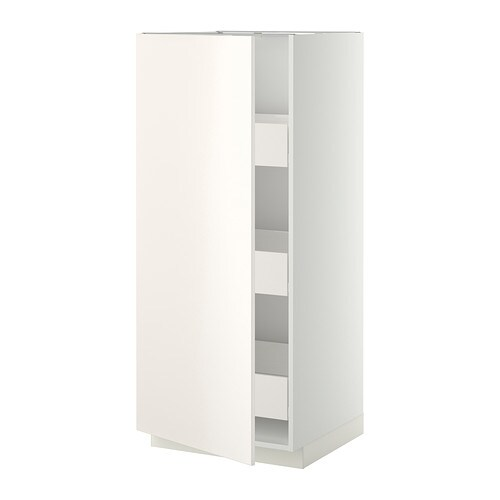 metod f rvara l ment armoire avec tiroirs blanc veddinge blanc ikea. Black Bedroom Furniture Sets. Home Design Ideas