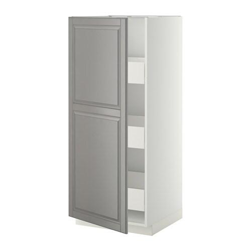 metod f rvara l ment armoire avec tiroirs blanc bodbyn gris ikea. Black Bedroom Furniture Sets. Home Design Ideas