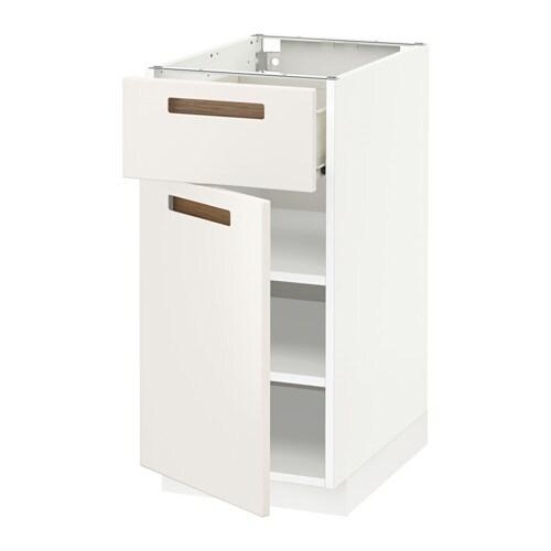 Metod f rvara l ment bas avec tiroir porte blanc m rsta blanc 40x60 cm - Element bas cuisine ikea ...
