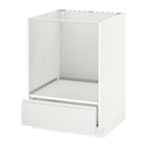 metod f rvara l ment bas pour four avec tiroir blanc voxtorp blanc ikea. Black Bedroom Furniture Sets. Home Design Ideas