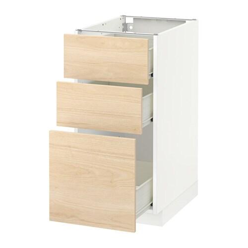 metod f rvara l ment bas 3 tiroirs blanc askersund 40x60 cm ikea. Black Bedroom Furniture Sets. Home Design Ideas