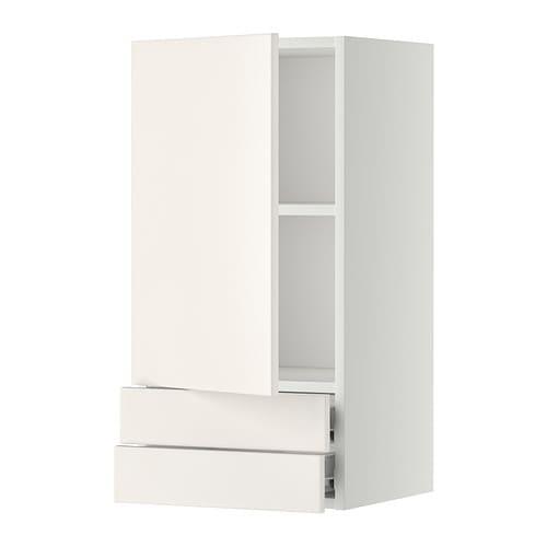Metod f rvara lt mural avec porte 2tiroirs blanc veddinge blanc 40x80 - Porte photo mural ikea ...