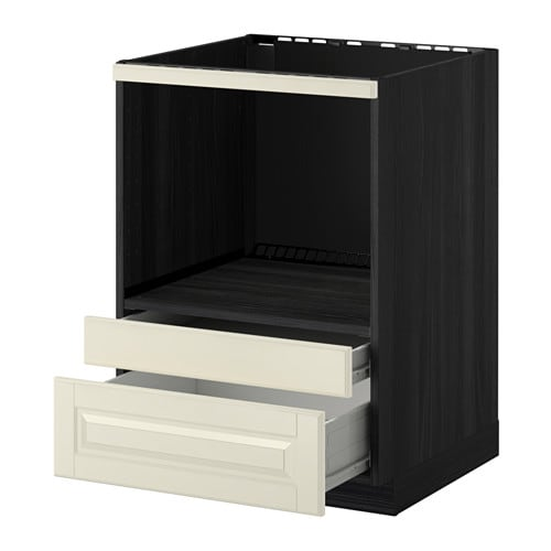 metod f rvara meuble pour micro combi tiroirs effet bois noir bodbyn blanc cass ikea. Black Bedroom Furniture Sets. Home Design Ideas