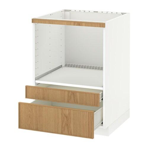 metod f rvara meuble pour micro combi tiroirs blanc ekestad ch ne ikea. Black Bedroom Furniture Sets. Home Design Ideas