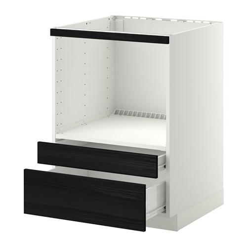 metod f rvara meuble pour micro combi tiroirs blanc tingsryd effet bois noir ikea. Black Bedroom Furniture Sets. Home Design Ideas