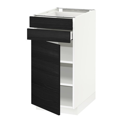 metod maximera l bas pte 2 tir blanc tingsryd effet bois noir 40x60 cm ikea. Black Bedroom Furniture Sets. Home Design Ideas