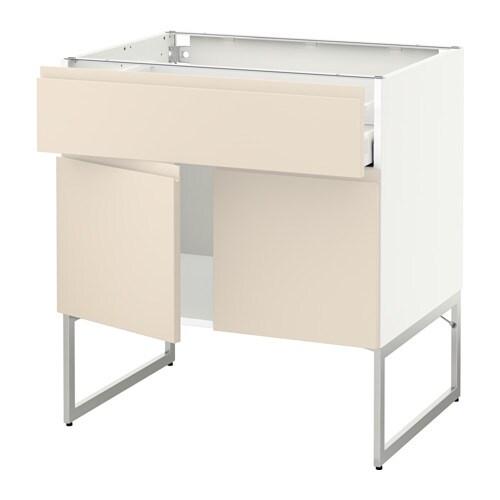 metod maximera l bas tablette tiroir 2portes blanc voxtorp beige clair 80x60x60 cm ikea. Black Bedroom Furniture Sets. Home Design Ideas