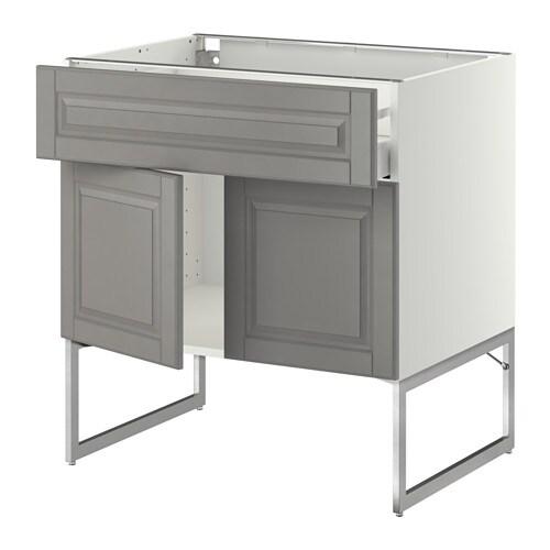 metod maximera l bas tablette tiroir 2portes blanc bodbyn gris 80x60x60 cm ikea. Black Bedroom Furniture Sets. Home Design Ideas