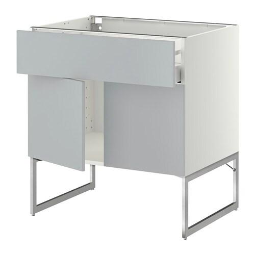 metod maximera l bas tablette tiroir 2portes blanc veddinge gris 80x60x60 cm ikea. Black Bedroom Furniture Sets. Home Design Ideas