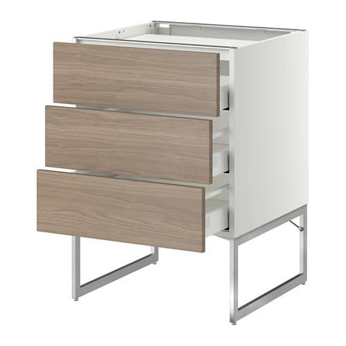 metod maximera l bas tbl cui 3 faces 3 tiroirs blanc 60x60x60 cm brokhult motif noyer. Black Bedroom Furniture Sets. Home Design Ideas