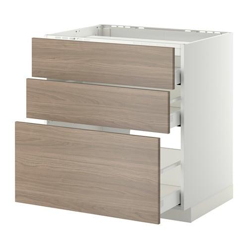 metod maximera l bas tbl cui 3 faces 3 tiroirs blanc 80x60 cm brokhult motif noyer gris. Black Bedroom Furniture Sets. Home Design Ideas