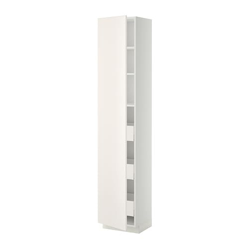 metod maximera l ment armoire avec tiroirs blanc veddinge blanc 40x37x200 cm ikea. Black Bedroom Furniture Sets. Home Design Ideas