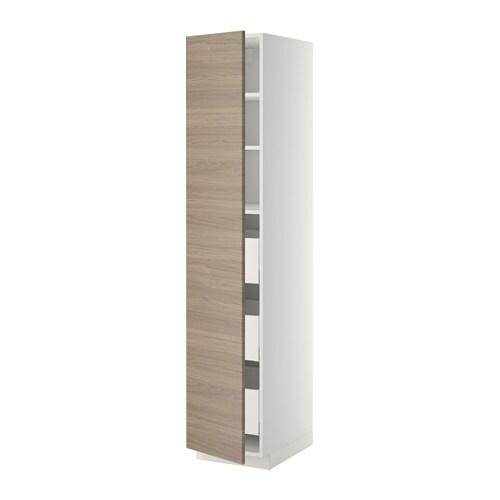 metod maximera l ment armoire avec tiroirs blanc 40x60x200 cm brokhult motif noyer gris. Black Bedroom Furniture Sets. Home Design Ideas