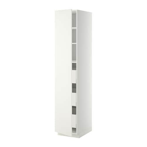 metod maximera l ment armoire avec tiroirs blanc h ggeby blanc 40x60x200 cm ikea. Black Bedroom Furniture Sets. Home Design Ideas