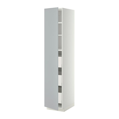 metod maximera l ment armoire avec tiroirs blanc veddinge gris 40x60x200 cm ikea. Black Bedroom Furniture Sets. Home Design Ideas