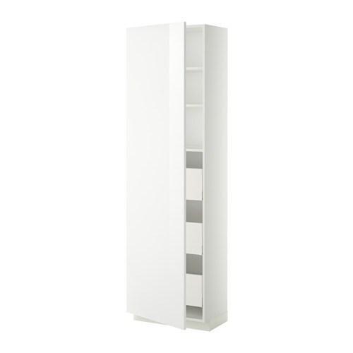 metod maximera l ment armoire avec tiroirs blanc ringhult brillant blanc 60x37x200 cm ikea. Black Bedroom Furniture Sets. Home Design Ideas