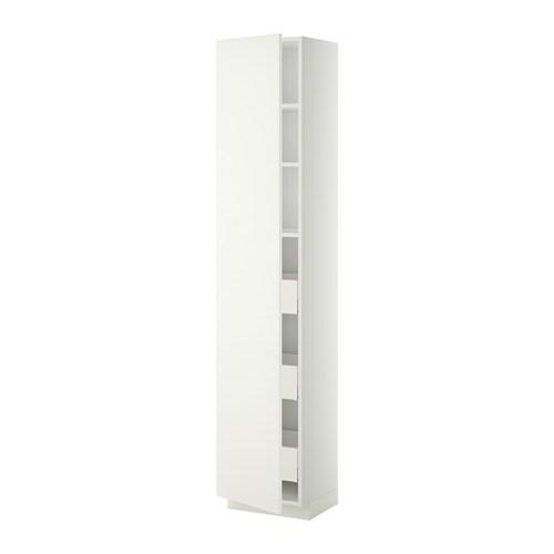 metod maximera l ment armoire avec tiroirs blanc h ggeby blanc 40x37x200 cm ikea. Black Bedroom Furniture Sets. Home Design Ideas