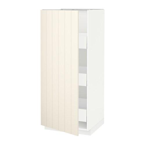 metod maximera l ment armoire avec tiroirs blanc hittarp blanc cass 60x60x140 cm ikea. Black Bedroom Furniture Sets. Home Design Ideas
