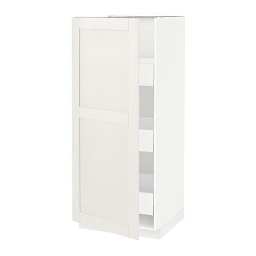 metod maximera l ment armoire avec tiroirs blanc s vedal blanc 60x60x140 cm ikea. Black Bedroom Furniture Sets. Home Design Ideas