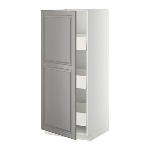 metod maximera l ment armoire avec tiroirs blanc bodbyn gris 60x60x140 cm ikea. Black Bedroom Furniture Sets. Home Design Ideas