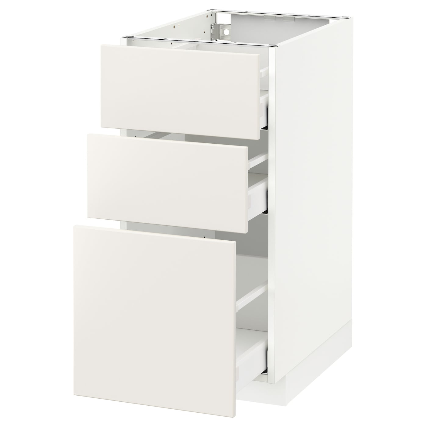 METOD / MAXIMERA Élément bas 12 tiroirs - blanc/Veddinge blanc 12x12 cm