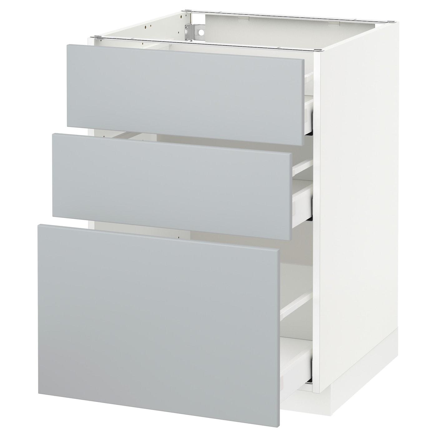 METOD / MAXIMERA Élément bas 14 tiroirs - blanc/Veddinge gris 14x14 cm