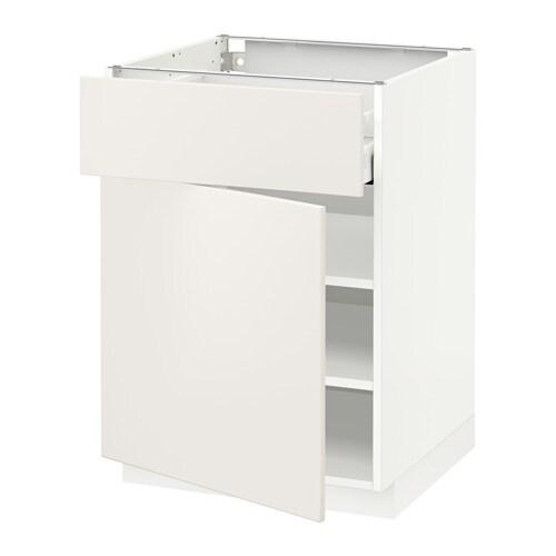 metod maximera l ment bas avec tiroir porte blanc veddinge blanc 60x60 cm ikea. Black Bedroom Furniture Sets. Home Design Ideas