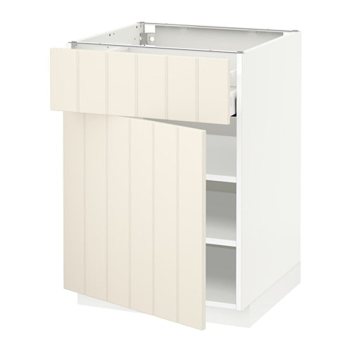 metod maximera l ment bas avec tiroir porte blanc hittarp blanc cass 60x60 cm ikea. Black Bedroom Furniture Sets. Home Design Ideas