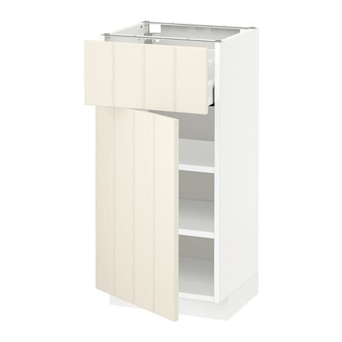 metod maximera l ment bas avec tiroir porte blanc hittarp blanc cass 40x37 cm ikea. Black Bedroom Furniture Sets. Home Design Ideas