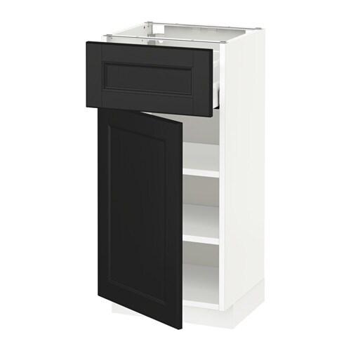 metod maximera l ment bas avec tiroir porte blanc laxarby brun noir 40x37 cm ikea. Black Bedroom Furniture Sets. Home Design Ideas