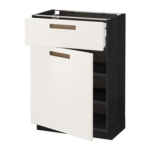 metod maximera l ment bas avec tiroir porte effet bois noir 60x37 cm m rsta blanc ikea. Black Bedroom Furniture Sets. Home Design Ideas