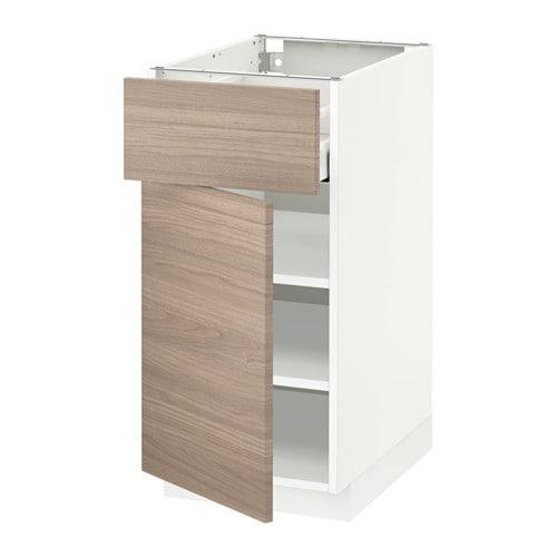 metod maximera l ment bas avec tiroir porte blanc brokhult motif noyer gris clair 40x60. Black Bedroom Furniture Sets. Home Design Ideas