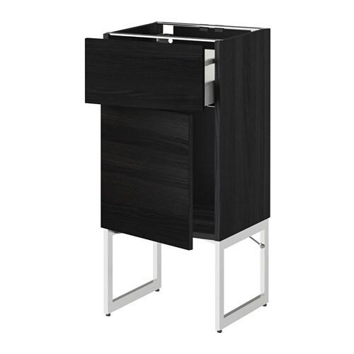 metod maximera l ment bas avec tiroir porte effet bois noir tingsryd effet bois noir. Black Bedroom Furniture Sets. Home Design Ideas
