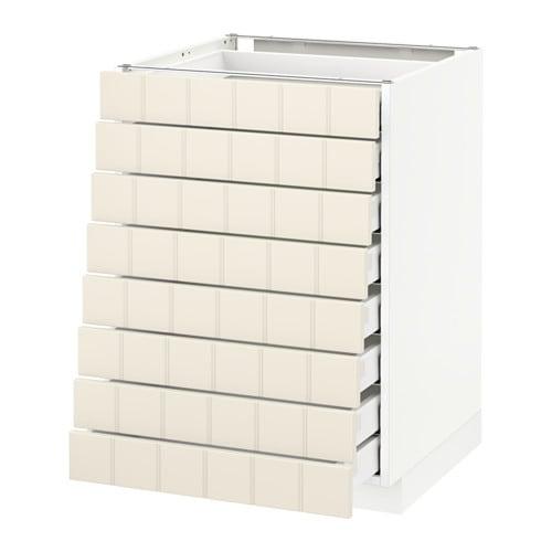 metod maximera l ment bas 8faces 8tiroirs bas blanc hittarp blanc cass 60x60 cm ikea. Black Bedroom Furniture Sets. Home Design Ideas