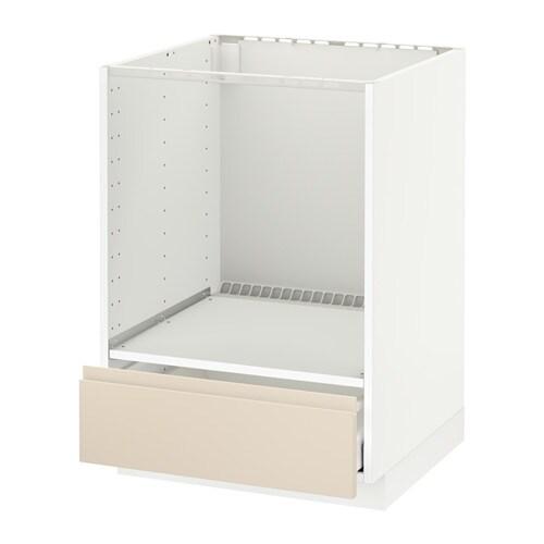 metod maximera l ment bas pour four avec tiroir blanc voxtorp beige clair ikea. Black Bedroom Furniture Sets. Home Design Ideas